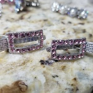 Swarovski Crystals two Hair clips